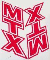 Label Aufkleber Set Tank rot red R+L Honda MTX 50 R MTX 80 R HD08 HD09 NEU