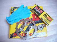 Original D.I.D Kettensatz, Ritzel, Kettenrad / Chain Kit Honda CB 50 J, CB 50J