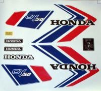 Aufkleber Set Emblem Label Mark Honda CY 50 Dekor Weiß Tank Seite