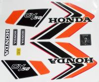 Aufkleber Set Emblem Label Mark Honda CY 50 Dekor Rot Tank Seite